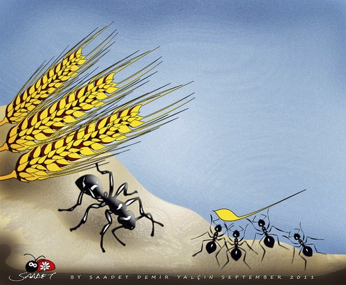 Cartoon: Have the force (medium) by saadet demir yalcin tagged saadet,sdy,power,ants