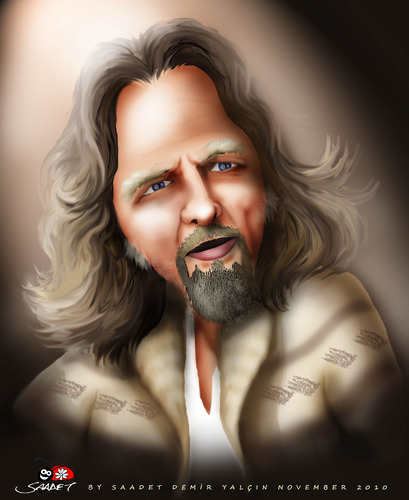 jeff bridges iron man 2. Cartoon: Jeff Bridges (medium)