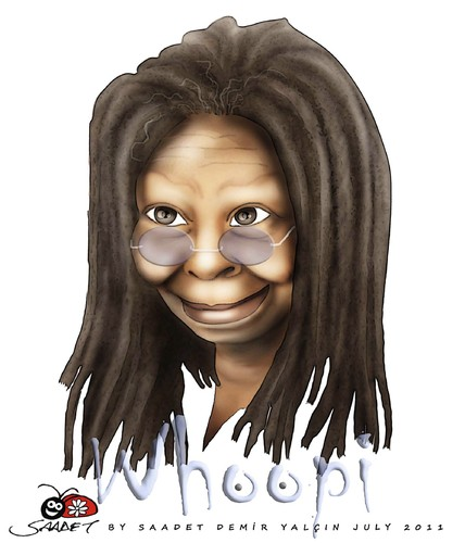 Cartoon: Whoopi Goldberg (medium) by saadet demir yalcin tagged saadet,sdy,whoopi,goldberg