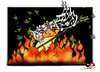 Cartoon: religious terrorism-2 (small) by saadet demir yalcin tagged saadet sdy