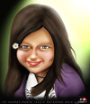 Cartoon: sweet girl.. (small) by saadet demir yalcin tagged saadet,syalcin,sdy,turkey,portrait