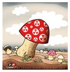 Cartoon: The most poisonous mushrooms (small) by saadet demir yalcin tagged saadet,mushrooms,nuclear