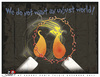 Cartoon: UNJUST WORLD (small) by saadet demir yalcin tagged saadet,sdy,unjust,world,candle