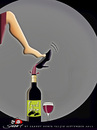 Cartoon: Wine (small) by saadet demir yalcin tagged saadet sdy wine shoe