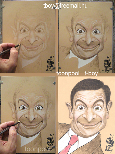 Cartoon: MR BEAN (medium) by T-BOY tagged mr,bean