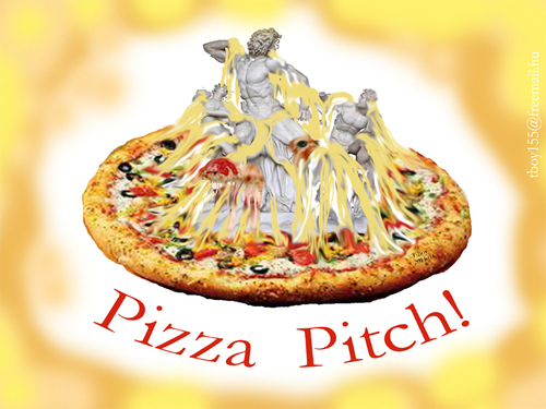 Cartoon: PIZZA PITCH (medium) by T-BOY tagged pitch,pizza