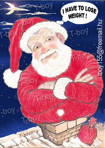 Cartoon: SANTA (medium) by T-BOY tagged santa