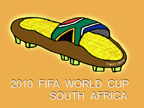 Cartoon: WORLD CUP SOUTH AFRICA (medium) by T-BOY tagged fifa,world,cup,2010,south,afrca