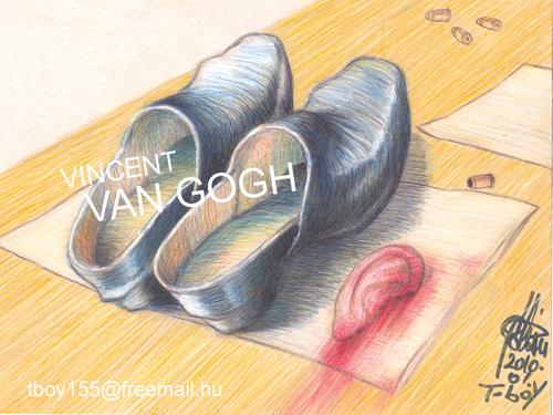 Cartoon: VAN GOGH (medium) by T-BOY tagged van,gogh