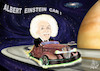 Cartoon: ALBERT EINSTEIN CAR (small) by T-BOY tagged albert,einstein,car