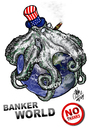 Cartoon: BANKER WORLD (small) by T-BOY tagged no