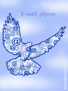 Cartoon: E MAIL  PIGEON (small) by T-BOY tagged mail,pigeon