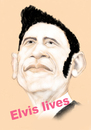 Cartoon: ELVIS LIVES (small) by T-BOY tagged king