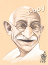 Cartoon: GANDHI (small) by T-BOY tagged gandhi