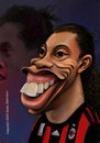 Cartoon: Ronaldinho Caricatura (small) by guidosalimbeni tagged milan,milano,calcio,soccer,caricature,football