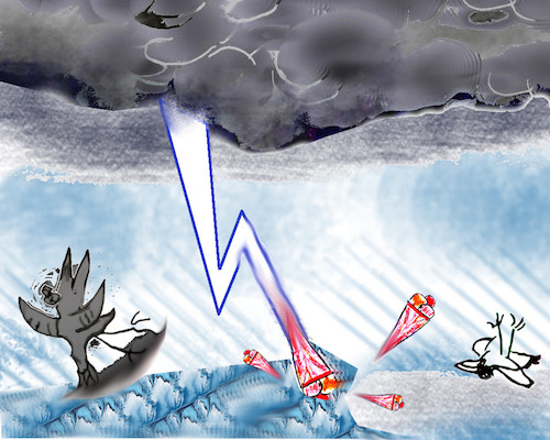 Cartoon: warnung vor blitzeis (medium) by wheelman tagged wetter,winter,blitzeis,kälte,regen,warnung,usw