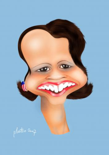 Cartoon: condoleezza (medium) by geomateo tagged caricature,politics,america