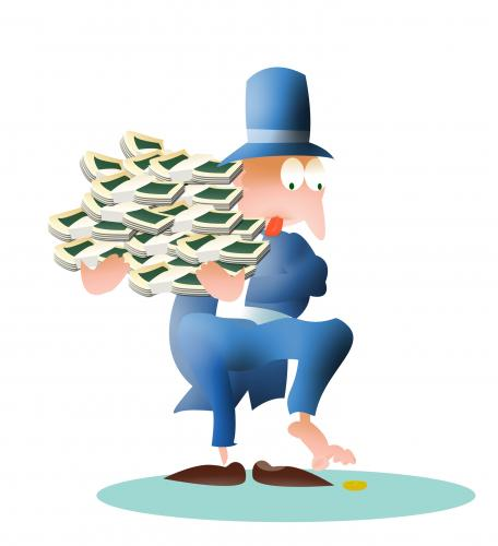 Business Concept Cartoon Business Boss Earning Money Stock ... |More Money Cartoon