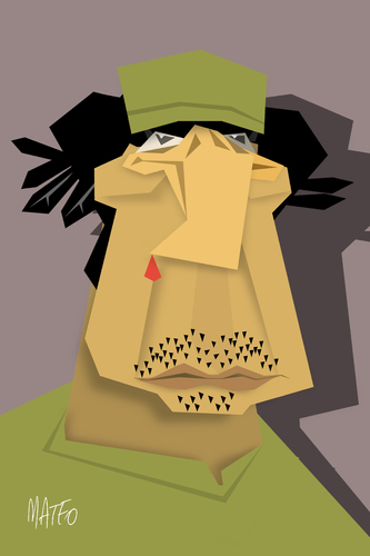 Cartoon: Muammar Gaddafi (medium) by geomateo tagged dictators,libia,gaddafi,muammar
