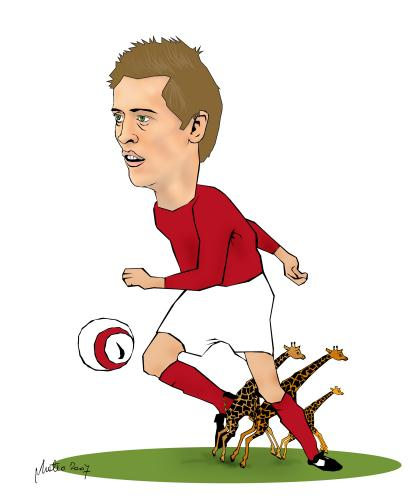 Cartoon: peter crouch caricature (medium) by geomateo tagged sport,soccer,football,england,ball,giraffe