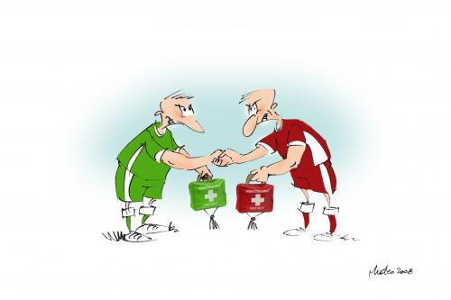 Cartoon: sport viollence (medium) by geomateo tagged sport,football,viollence,