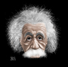 Cartoon: Albert Einstein (small) by geomateo tagged physicist,albert,einstein,physic,sience,genius