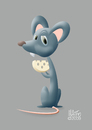 Cartoon: little mouse (small) by geomateo tagged animal,mouse,fun,kids,cheese