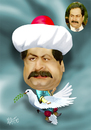 Cartoon: Naci Talat (small) by geomateo tagged naci,talat,politics,politician,cyprus