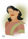 Cartoon: SONIA GANDHI (small) by geomateo tagged gandhi,politics,india