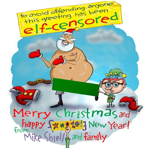 Was naked santa cartoon think, that