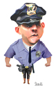 Cartoon: COP (small) by mikess tagged police,officer,cop,law,enforcement,arrest,badge,gun