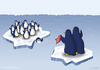 Cartoon: Pinguinabschied (small) by katelein tagged pinguin,penguin,arktis,antarktis,eisscholle,nordpol,südpol,klimawandel