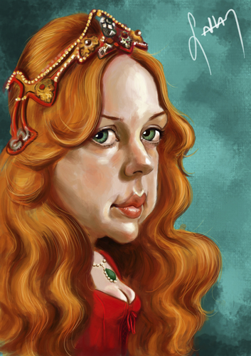 Cartoon: hurrem sultan (medium) by sahannoyan tagged hurrem,sultan