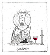 Cartoon: Gourmet (small) by Oliver Kock tagged fliege,fly,scheisse,shit,gourmet,restaurant