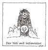 Cartoon: Intimrasur (small) by Oliver Kock tagged yeti,intimrasur,berge,mythos