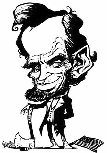 Abe Lincoln By Stieglitz Famous People Cartoon Toonpool