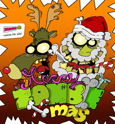 Merry Zombie Christmas By Brainfart Media Culture Cartoon Toonpool