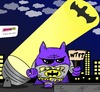 Cartoon: Batmonster (small) by BRAINFART tagged batman,bruce,wayne,dc,comic,cartoon,character,humor,fun,funny,lustig,spass,witzig,bat,toonpool