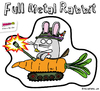 Cartoon: Full Metal Rabbit (small) by BRAINFART tagged comic,humor,cartoon,character,toonpool,war,peace,freedom,rabbit,tank,krieg,frieden,liebe,love,sticker,streetart