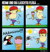 Cartoon: HERMI vs. Fat Mosca (small) by BRAINFART tagged comic,cartoon,character,art,humor,lustig,witzig,zeichnung,drawing,brainfart,ice,cream,fly