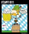 Cartoon: Ozapft is!! (small) by BRAINFART tagged oktober,fest,beer,fun,munich,humor,funny,cartoon,character,comic,picture,drawing,zeichnung,lustig,witzig,spass,bier,hossa,ozapftis,prost,brainfart,art
