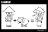 Cartoon: SAUMURAI (small) by BRAINFART tagged cartoon,brainfart,comic,lustig,fun,humor