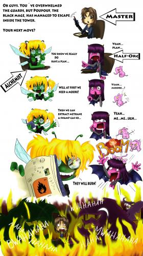 Cartoon: Chemistry Part 1 (medium) by KirbyCrew tagged tobacco,orc,devil,demon,dragonfly,alchimist,sith,rpg,dsa