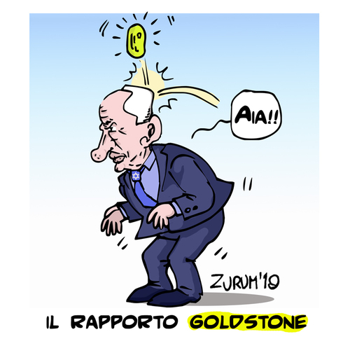 Cartoon: THE GOLDSTONE REPORT (medium) by Zurum tagged the,goldstone,report