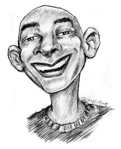Cartoon: quel (medium) by michaelscholl tagged quel,pencil,portrait