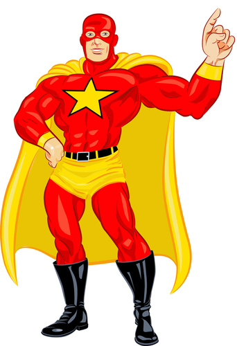 Cartoon: superstar guy (medium) by michaelscholl tagged superhero