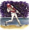 Cartoon: clean-up (small) by michaelscholl tagged batter,swing,baseball,hitter,hit,team,sports