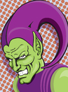 Cartoon: green goblin (small) by michaelscholl tagged greengoblin,green,goblin,marvel