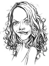 Cartoon: huh? (small) by michaelscholl tagged woman,silly,face,smirk