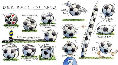 Cartoon: Der Ball ist rund (medium) by Gebhard tagged fußball